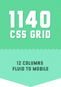 The 1140px CSS Grid System · Fluid down to mobile